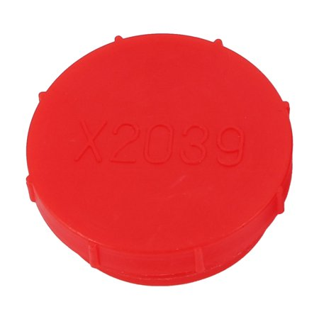 - M39 x 2.0mm PE External Threaded Tube Insert Cap Screw-in Cover Red