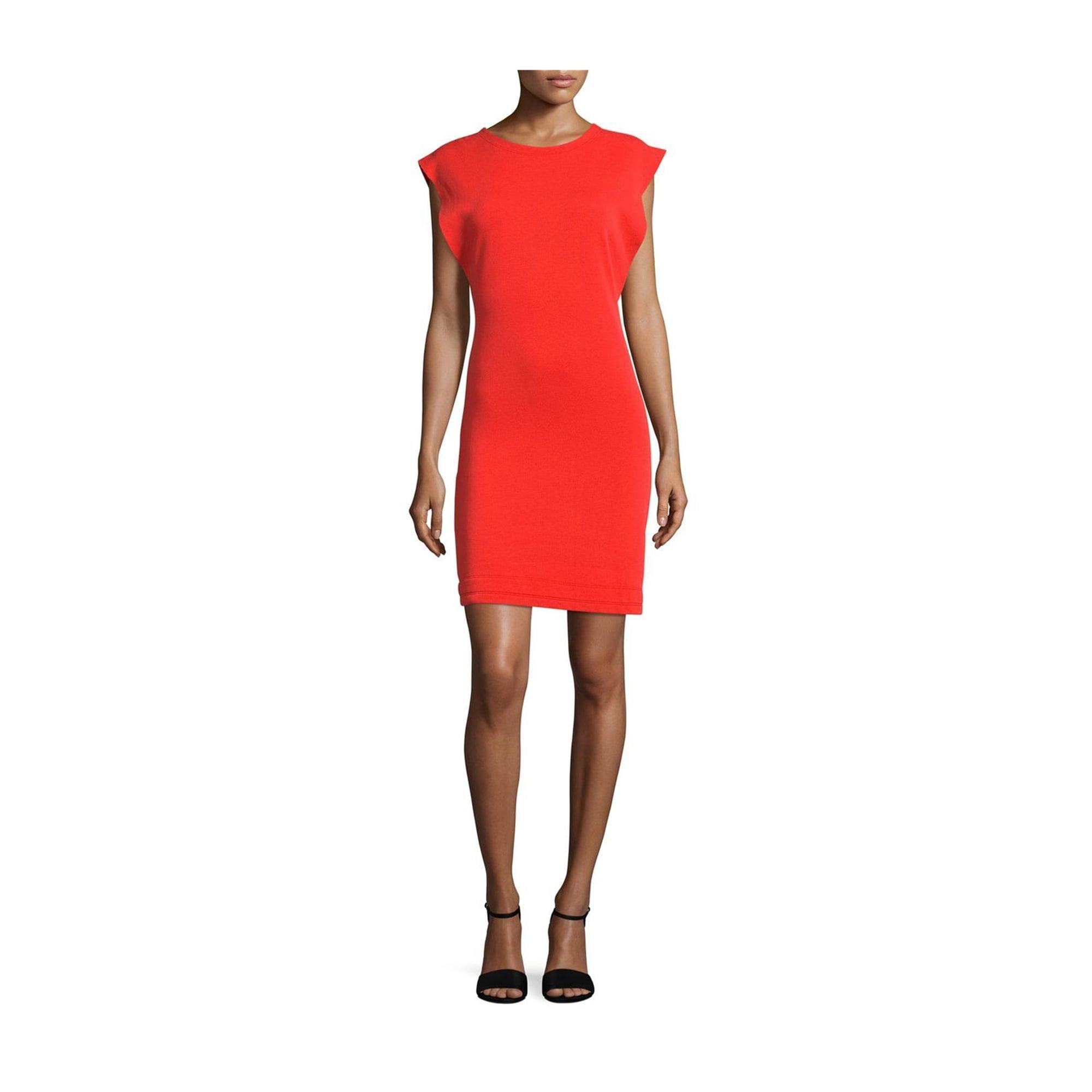 e77195d3eb3 Free People Womens Britt Fleece Cut-Out Sweater Dress red S ...