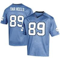 Men's Russell Athletic #89 Carolina Blue North Carolina Tar Heels Fashion Football Jersey