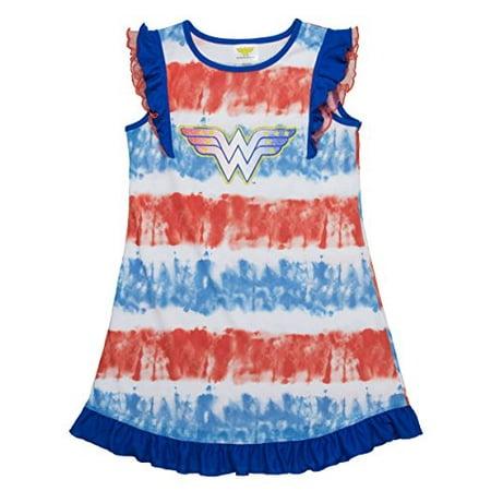 Wonder Woman Tie Dye Ruffle Gown
