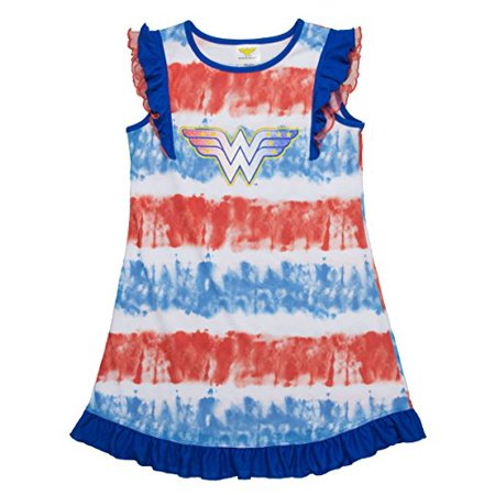 Wonder Woman Tie Dye Ruffle Gown