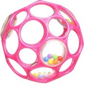 Rhino Toys Oball Rattle, Pink