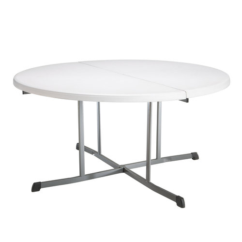 Lifetime 60 Inch Round Commercial Fold In Half Table