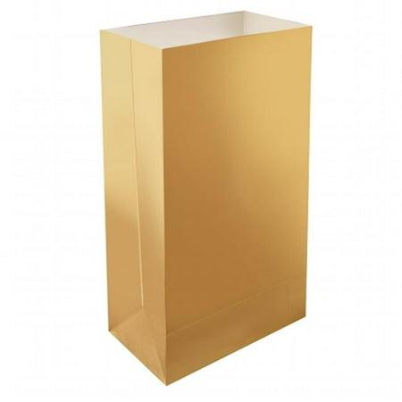 Luminaria Bags, Gold - 24 Count