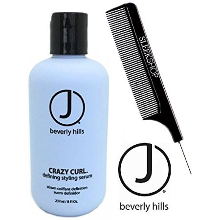 J Beverly Hills CRAZY CURL Defining Styling Serum (w/ Comb) - 8 oz / 250 ml