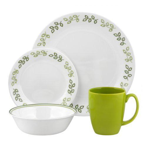 Corelle Livingware Neo Leaf Dinnerware - Set of 16