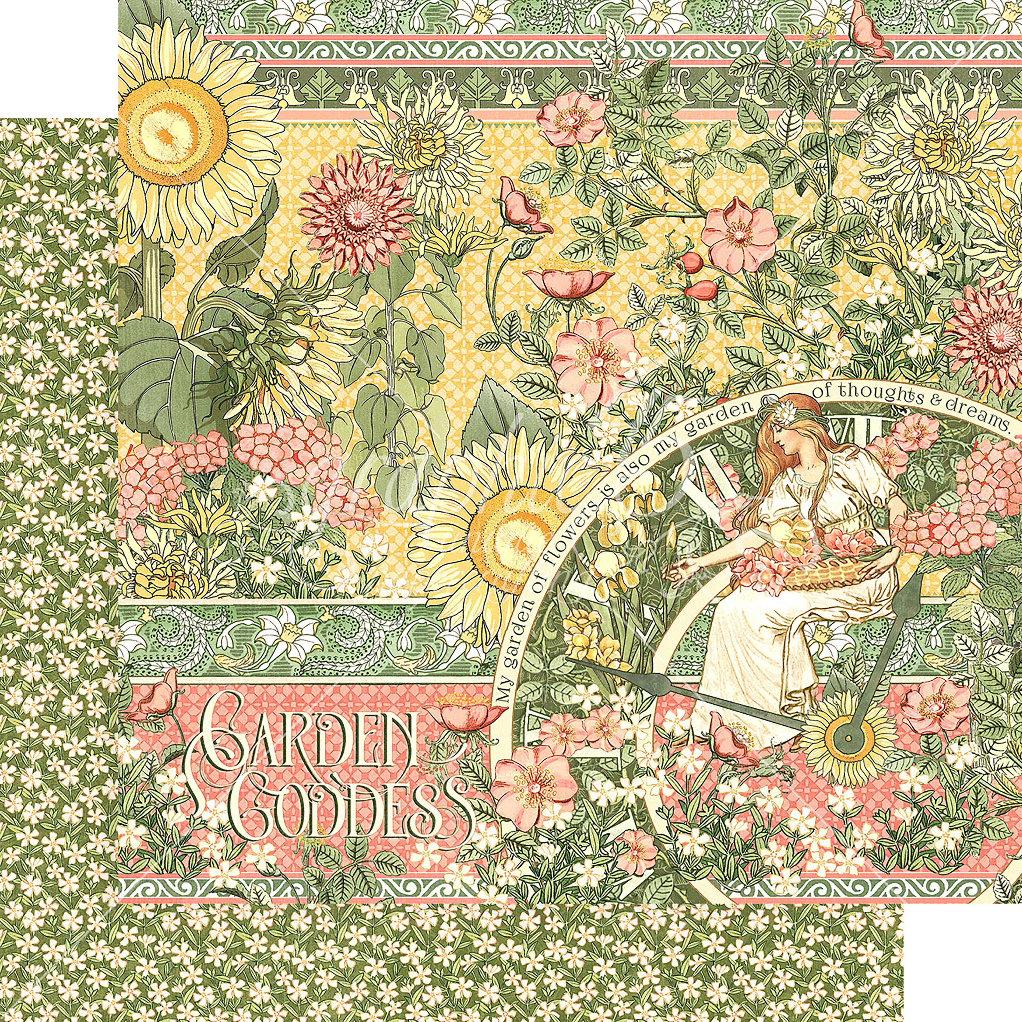 """Garden Goddess Double-Sided Cardstock 12""""X12""""-Garden Goddess - image 1 de 1"""