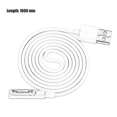 LED Indicator Magnetic Charging Cable Light Mini USB Charging Cable For Sony Xperia Z3 L55t Z2 Z1 Compact XL39h - image 5 of 7