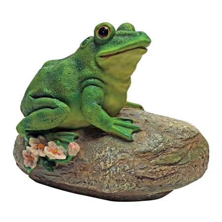 Thurston  The Frog  Garden Rock Sitting Toad Statue