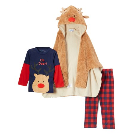Anaheim 3 Piece Set - Freestyle Revolution Boy's 3 Piece Pajama Sleep Set With Snug (Little Boys)