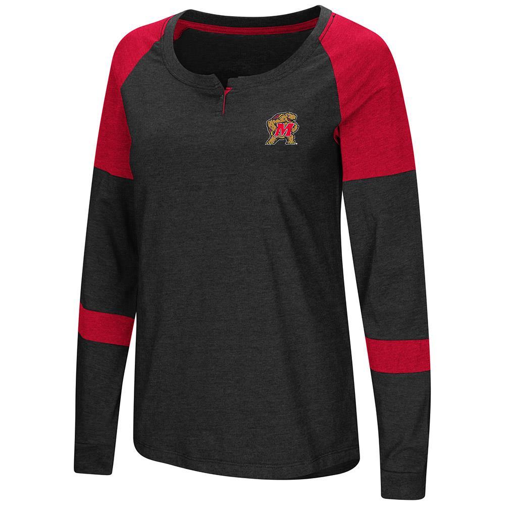Womens Maryland Terrapins Long Sleeve Raglan Tee Shirt XL by Colosseum