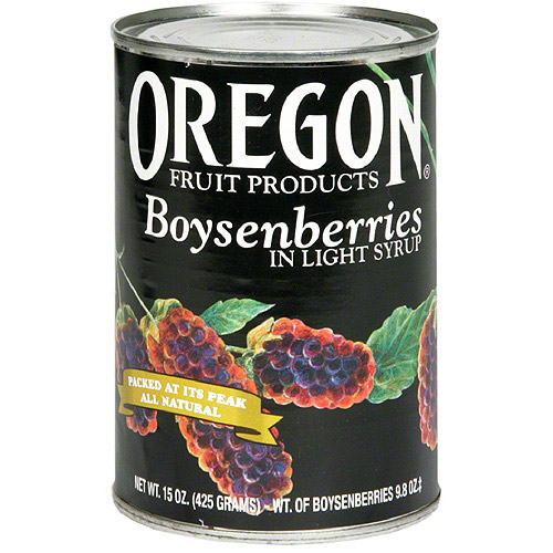 Oregon Fruit Products Boysenberries In Light Syrup, 15 oz (Pack of 8)