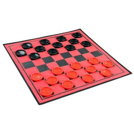 3-in-1 Giant Reversible Game Mat by Checker Board, Tic-Tac-Toe & Super Tic-Tac-Toe, Game mat, 25-1/2 sq. By Etna](Checker Games)