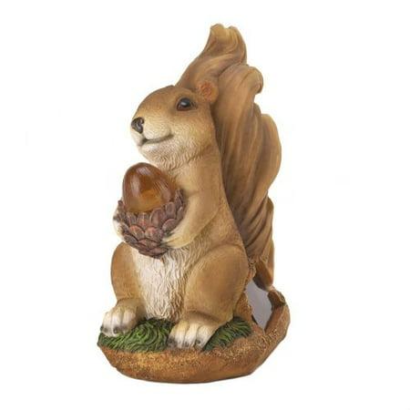 Summerfield Terrace Squirrel Solar Statue - Squirrel Statue