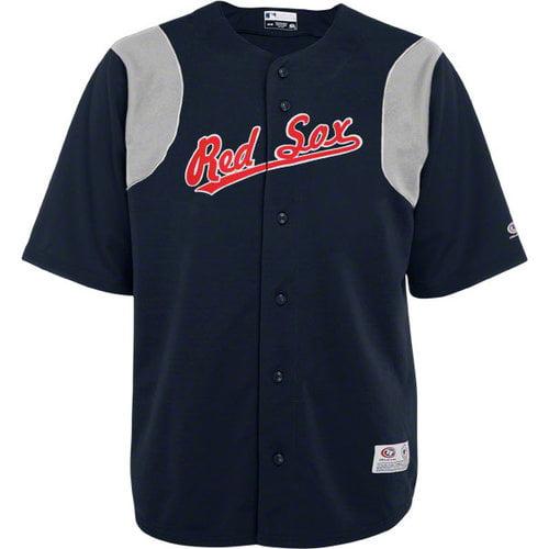 MLB - Boston Red Sox Navy Button-Down True Fan Jersey