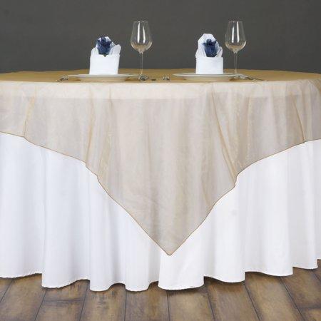 Balsacircle 72x72 Sheer Organza Wedding Table Overlays Party Linens