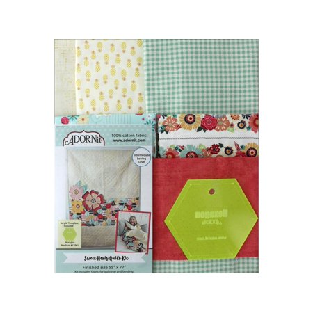 Adornit Sweet Hexis Quilt & Template - Dovetail Template Kit