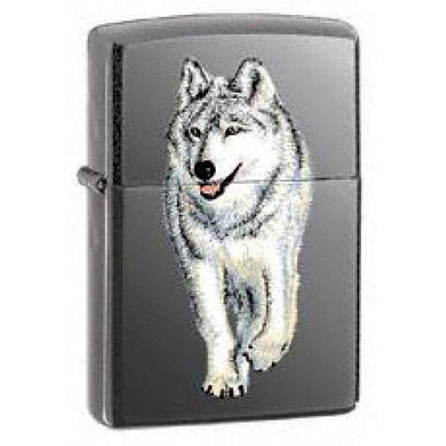 Zippo Wolf Lighter Black Ice Lighter