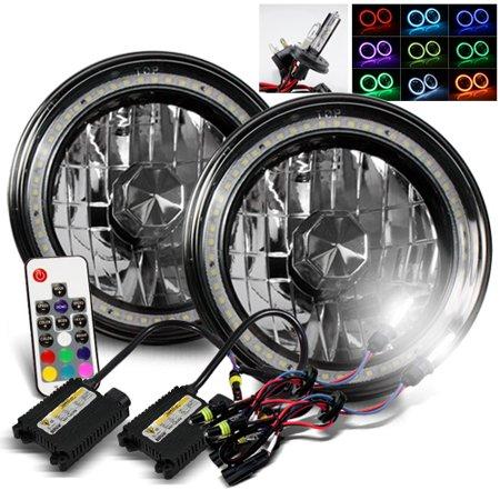 - ModifyStreet 6000K H4-2 HID + Hi-Power Remote Control Multi-Color SMD Halo Ring H6014/H6015/H6017/H6052/H6024 7