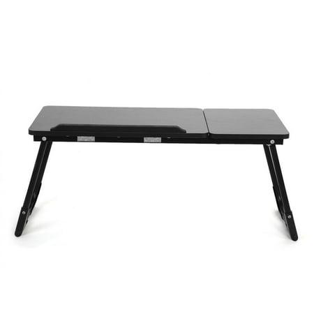 HERCHR Stable Height Adjustable Mobile Laptop Computer Standing Desk for Home Office,  Laptop Desk,Breakfast Bed Serving TrayAdjustable Computer Table