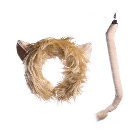 Wildlife Tree Plush Lion Ears Headband and Tail Set for Lion Costume, Cosplay, Pretend Animal Play or Safari Party Costumes](Lion Ears And Tail)