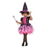 Child Sparkle Light Up Witch Costume