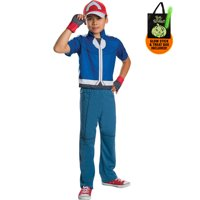 Pokemon Deluxe Ash Costume for Kids Treat Safety Kit-M