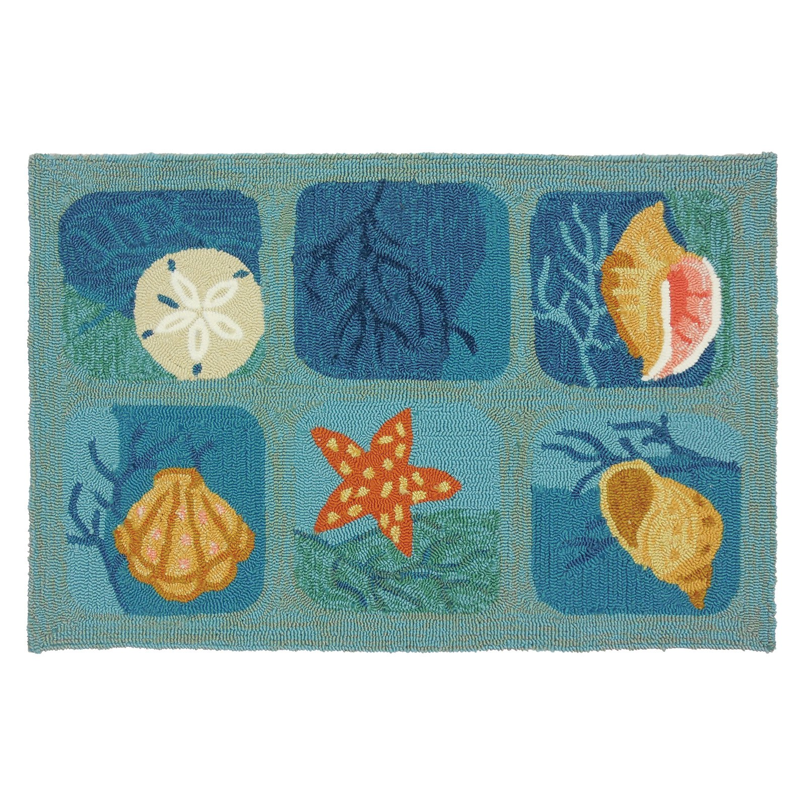 Homefires Shell Tile Indoor/Outdoor Accent Rug