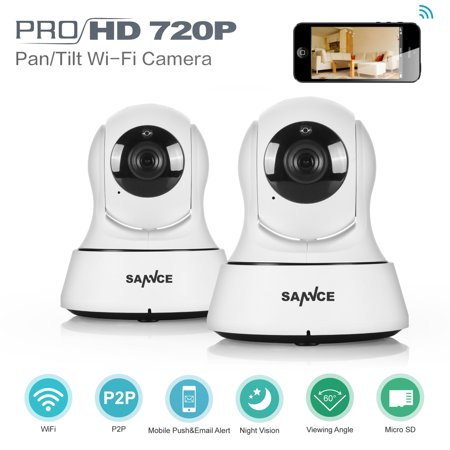 Mini HD Wireless IP Camera Wifi 720P Smart IR-Cut Night Vision P2P Baby  Monitor Surveillance Onvif Network CCTV Security Camera-2Pcs