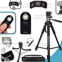 """PRO Grade 72"""" inch TRIPOD + Universal Camera REMOTE Control KIT for Nikon D750, D7200, D7100, D7000, D810A, D800, D610, D810, D600, D5500, D5300, D5200, D5100, D3300, D3200, D3S, D3X, D3, D4S, D4 DSLR"""