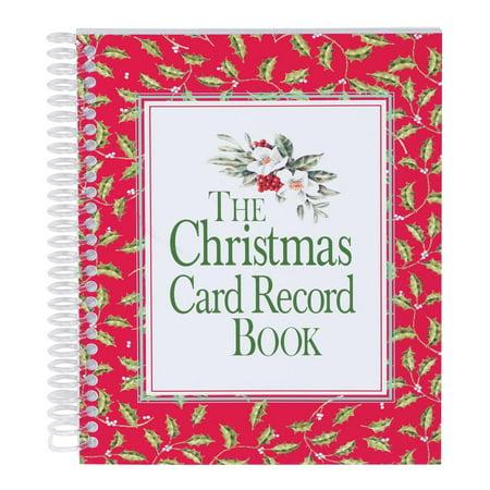 Christmas Card Record Book Christmas Card List Book