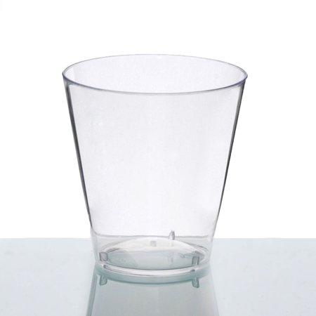 BalsaCircle 50 pcs 2 oz Disposable Plastic Shot Glasses - Clear