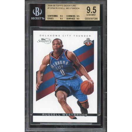 2008 09 Topps Signature  Tsrw Russell Westbrook Rookie Bgs 9 5  9 5 9 5 9 5 9 5