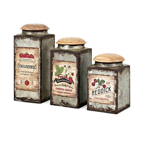 Trisha Yearwood Berry Patch Lidded Containers - Set of 3 - Berry Boxes