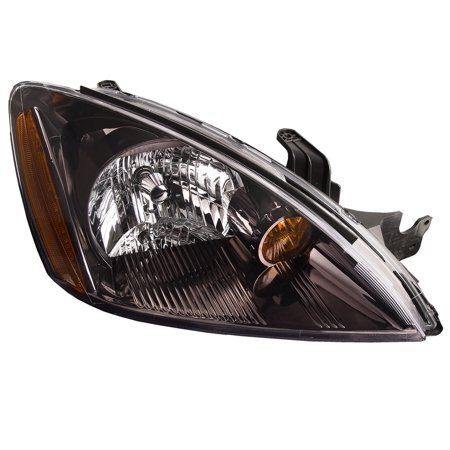 2004-2006 Mitsubishi Lancer Passenger Side Black Housing Headlight Right Halogen Headlamp Assembly (Lancer Headlamp)