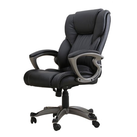 Black Executive Snap (Zimtown Office and Home High-end Graceful PU Leather Executive Chair Computer Desk Seat)