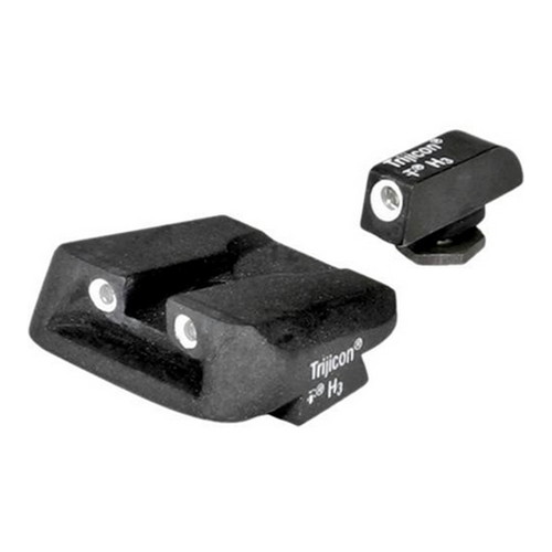 Trijicon Glock Bright and Tough 3 Dot Night Sight Set All Models, Green Front and Novak Style Rear