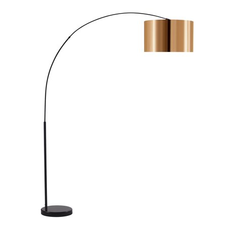 Versanora - Curvella Arched Floor Lamps - Gold/Black ()