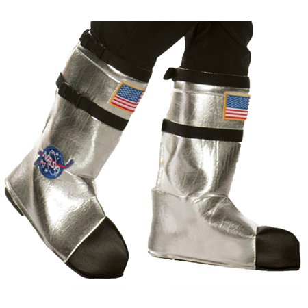 Astronaut Space Boots (Astronaut Boot Tops Adult Halloween Accessory )