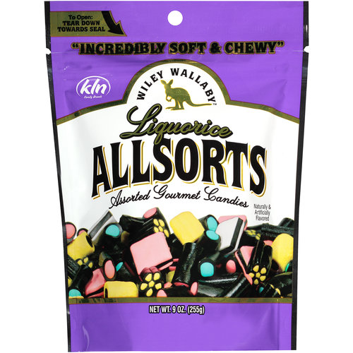 Wiley Wallaby Liquorice Allsorts Assorted Gourmet Candies, 9 Oz.
