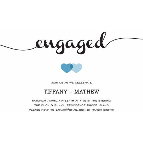 Loving Engagement Party Invite Standard Engagement Walmartcom