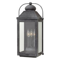 "Hinkley Lighting 1855 Anchorage 3 Light 21.25"" Tall Outdoor Heritage Wall Sconce"