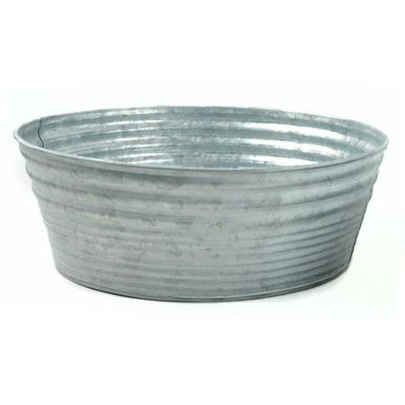 Midwest Design Imports 50938 Galvanized Tin Container, Round