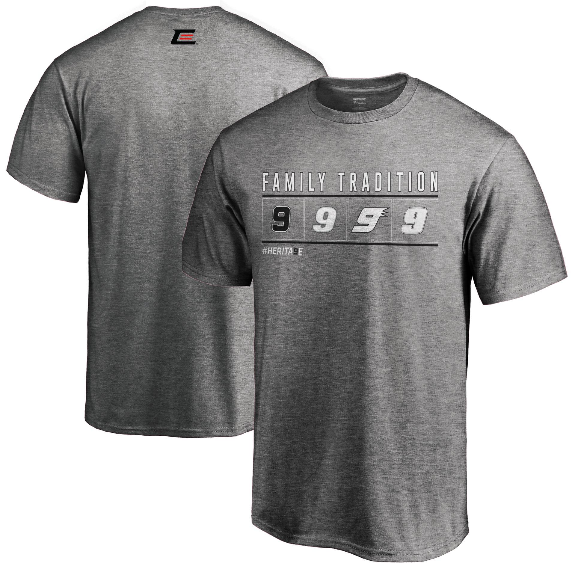 Chase Elliott Fanatics Branded Family Tradition T-Shirt - Gray