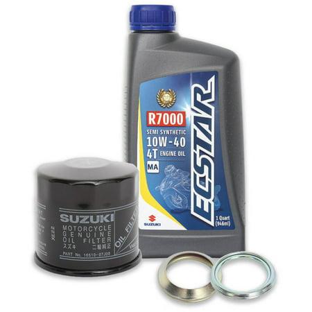 Suzuki ECSTAR Semi-Synthetic 10W40 Oil Change Kit 3 Quarts 990A0-01E30-3KT