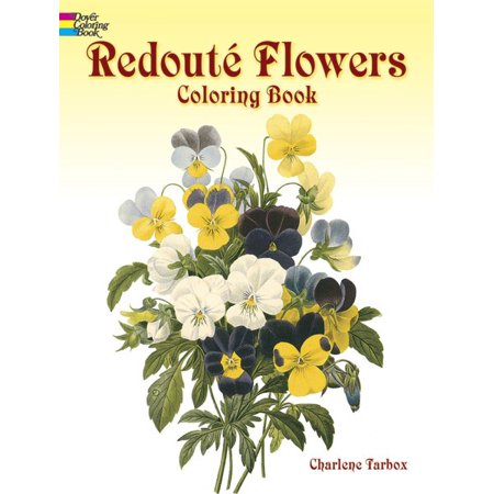 Redoute Flowers Coloring Book