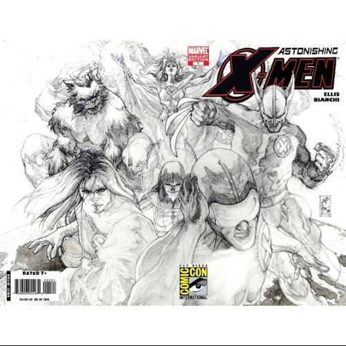 Sdcc 2008 Astonishing X-Men #25 Sketch Variant by DC Direct