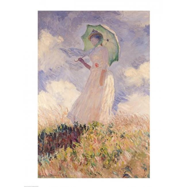 Posterazzi BALXIR16615 Woman with Parasol Turned To The Left 1886 Poster Print by Claude Monet - 18 x 24 in. - image 1 de 1