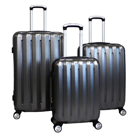 World Traveler Oxford 3 Piece Lightweight Spinner Luggage