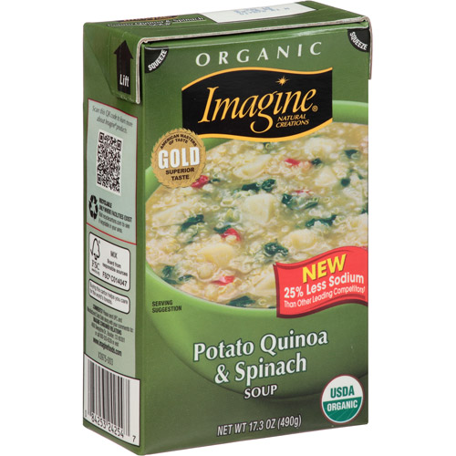 Imagine Foods Organic Potato Quinoa & Spinach Soup, 17.3 oz, (Pack of 12)